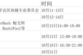 10月成都区块链行业沙龙汇总(附报名方式)